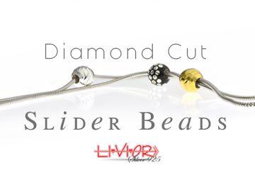 Diamond cut Slider beads
