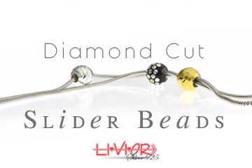 Diamond cut Slider beads