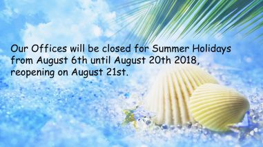 Chiusura vacanze estive