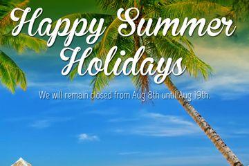 Vacaciones de verano de cierre